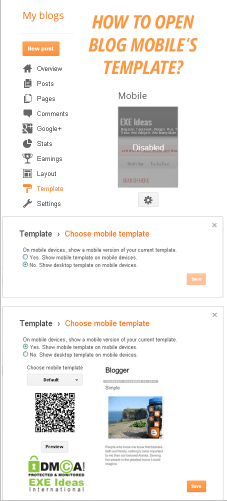 How To Open Blog Mobile Template For Blogspot/Blogger?