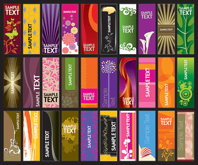 30 Vector Vertical Banner Templates.eps
