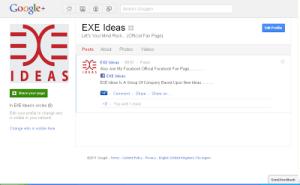 EXEIdeasGooglePlusFanPage