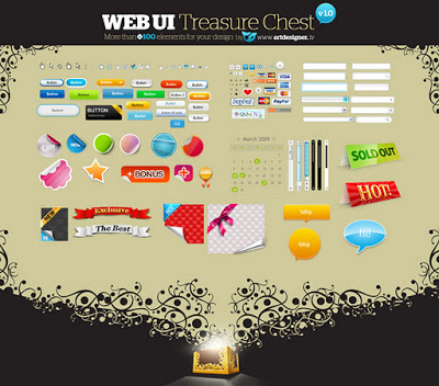 WEB UI Treasure Chest v1.0.psd