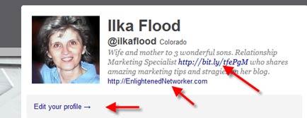 How To Add Link In Twitter Biography Widget?