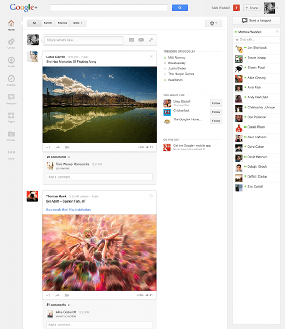 Google Plus Officially Up-Date (Looking Really Awesome)