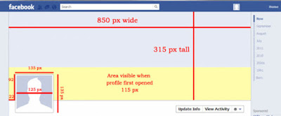 Area/Dimention Divided For Facebook Timeline Pic