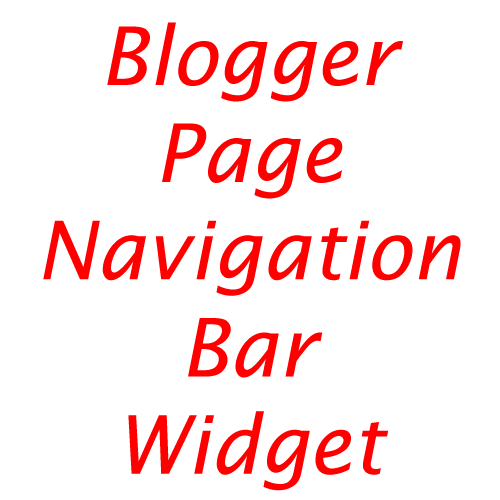 Blogger Page Navigation Bar Widget