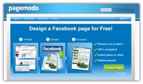 Free Facebook Welcome Page Creator
