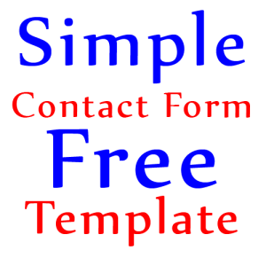 Simple-Contact-Form-Free-Template