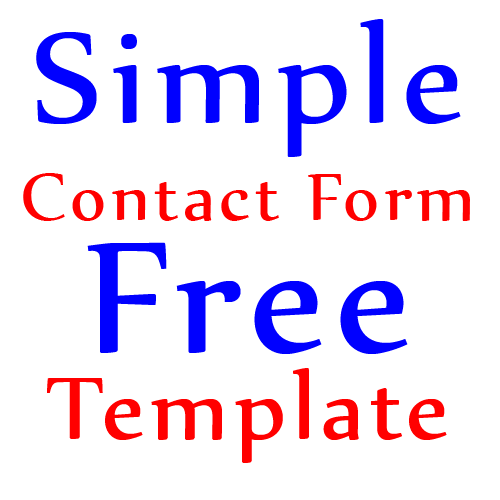 Simple Contact Form Free Template