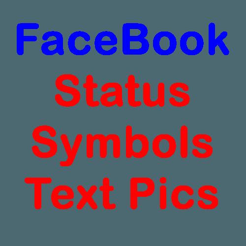 FaceBook Status Symbols Text Pics