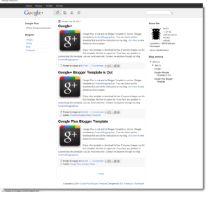 google-plus-blogger-template