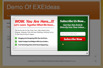 Cool EXE-Style POP-UP V1 Widget For Blog And Website.