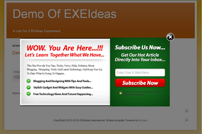 Cool EXE-Style POP-UP V2 Widget For Blog And Website.