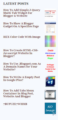Stylish J-Query Latest Post Widget For Blogger Or Blogspot