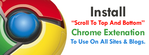 """Stylish """"Scroll To Top & Down"""" Fancy Buttons For Chrome"""
