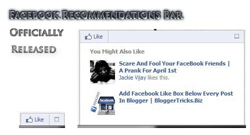 "New Awesome ""Facebook Recommendation Bar"" To Increase Page Views"