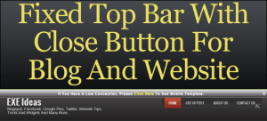 Fixed-Top-Bar-With-Close-Button-For-Blog-And-Website
