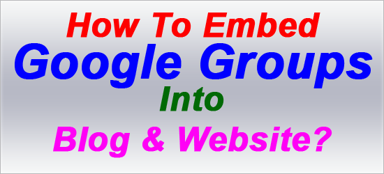 How to embed google groups into blog website exeideas for Embed a forum into your website