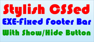 Stylish-CSSed-EXE-Fixed-Footer-Bar-With-Show-Hide-Button