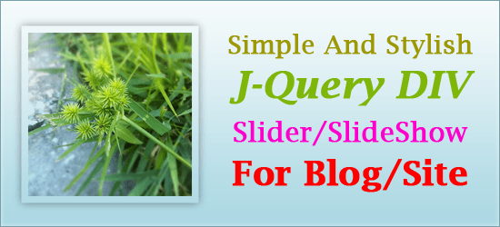 Simple And Stylish J-Query DIV Slider/SlideShow