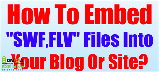 How to embed swf flv files into your blog or site for Embed a forum into your website