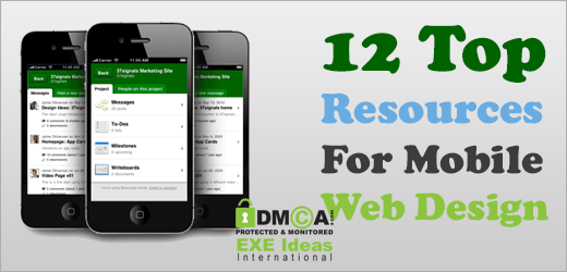 12 Top Resources For Mobile Web Design