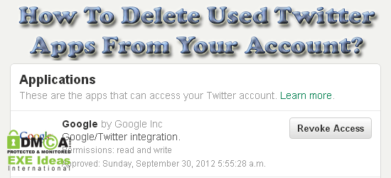 How To Delete Used Twitter Apps From Your Account?