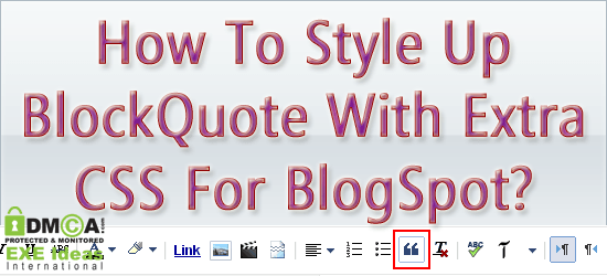 How To Style Up BlockQuote With Extra CSS For BlogSpot?