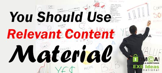 Relevant Content Material