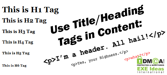 Use Title/Heading Tags in Content