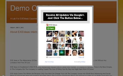 CSS-LightBox POP-UP Google Plus Circle Widget For Blog & Website