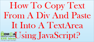 How-To-Copy-Text-From-A-Div-And-Paste-It-Into-A-TextArea-Using-JavaScript