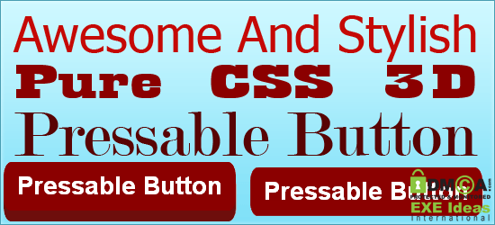 Awesome And Stylish Pure CSS 3D Pressable Button