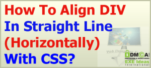 How-To-Align-DIV-In-Straight-Line-Horizontally-With-CSS