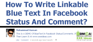 How-To-Write-Linkable-Blue-Text-In-Facebook-Status-Comment