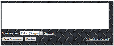 How To Change Blogger Threaded Comment Box Background?