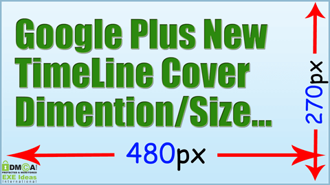 Google Plus New TimeLine Cover Dimention Size