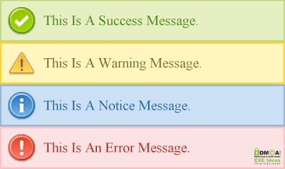 Awesome Success, Warning, Notice, And Error DIVs DEMO