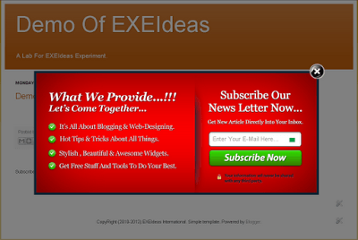 EXE Style POP UP Version 2 ScreenShoot