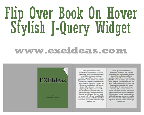 Stylish Flip Over Book On Hover With J-Query Effect