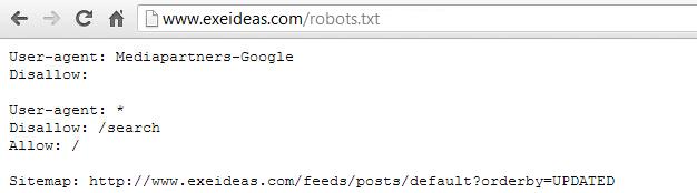 Blogger-Default-Robots-txt