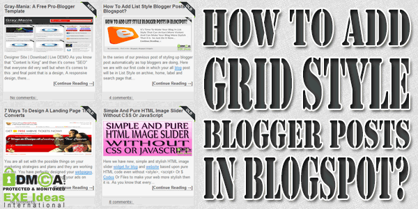 How To Add Grid Style Blogger Posts In Blogspot?
