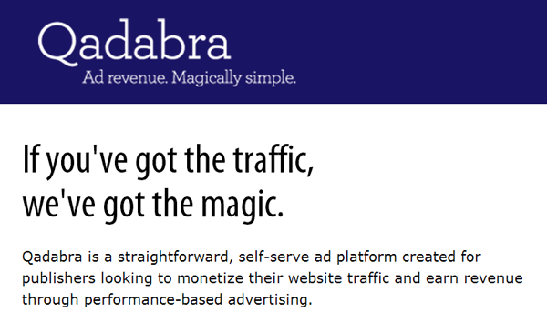 Qadabra: Your Blog With Good Revenue