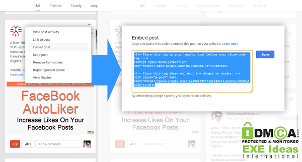 How To Embed Google Plus Posts In Blogs And Website?