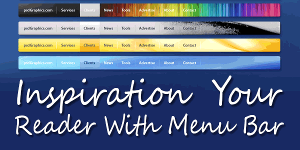 Inspiration Your Reader With Menu Bar