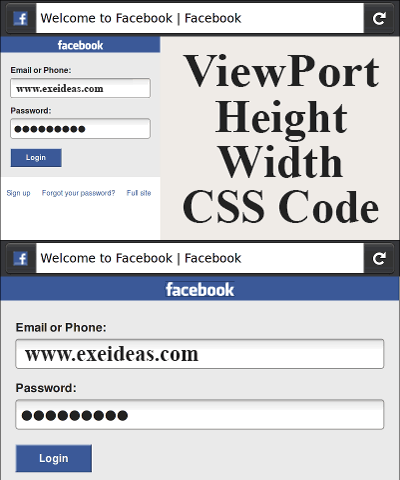 ViewPort Height/Width CSS Code:
