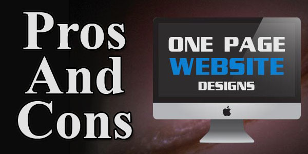 Pros And Cons Of Having Single Page Website