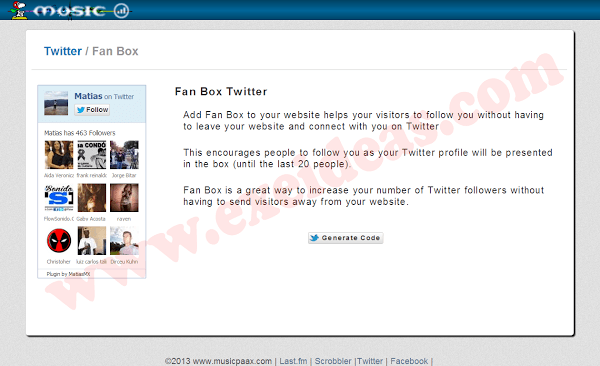 New Twitter Followers/FanBox Widget With Faces For Blog And Website