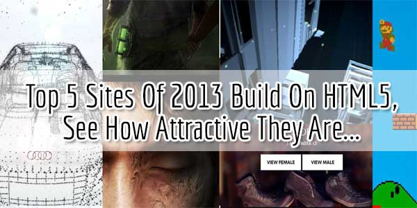 Top 5 Sites Of 2013 Build On HTML5