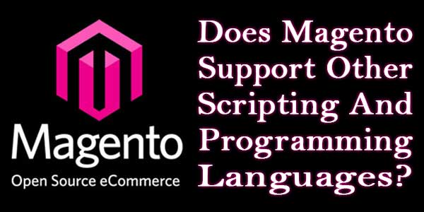 Does Magento Support Other Scripting And Programming Languages?