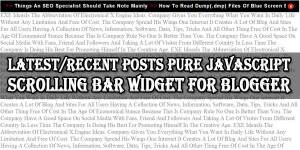 Latest-Recent-Posts-Pure-JavaScript-Scrolling-Bar-Widget-For-Blogger