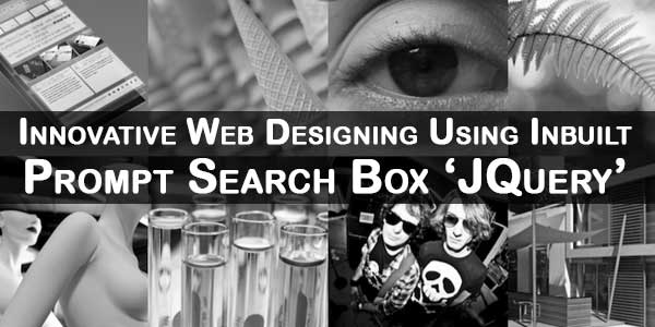 Innovative Web Designing Using Inbuilt Prompt Search Box 'JQuery'